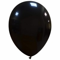"Superior 12"" Solid Colour Black Latex 100ct"