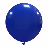"24"" Dark Blue Latex Balloon 1ct"