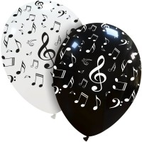 "Musical Notes 12"" Latex Balloons 50Ct"