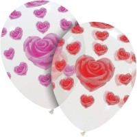 "I Love You Red Roses 12"" Latex Balloons 50Ct"