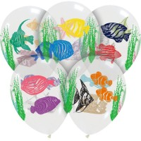 "Tropical Fish 12"" Latex Balloons 50Ct"