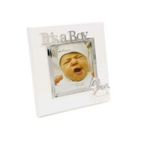 "It's A Boy - Silver Plated Photo Frame 4""X4"""