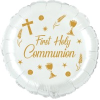 """Chalice First Communion Gold 18"""" Foil Balloon UNPACKAGED"""