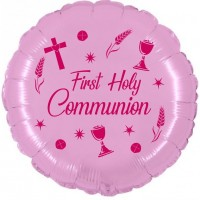 """Chalice First Communion Pink 18"""" Foil Balloon UNPACKAGED"""