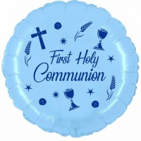 """Chalice First Communion Sky Blue 18"""" Foil Balloon UNPACKAGED"""