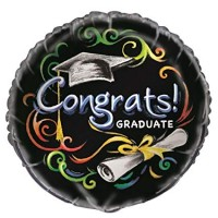 "Congrats Graduate Chalkboard 18"" Foil Balloon"