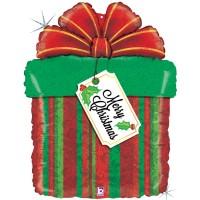 "Christmas Present 30"" Foil Balloon"
