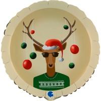 "Christmas Reindeer 18"" Foil Balloon"