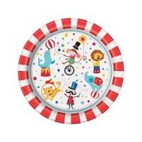 "Circus Carnival 9"" plates 8ct"