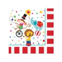 Circus Carnival Luncheon Napkins 16ct