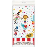 Circus Carnival Plastic Tablecover 1ct