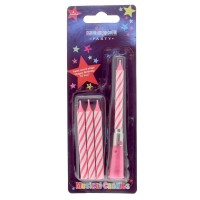 Musical Candle Pink (Box of 6)