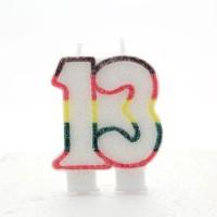 13 Double Age Multicolour Candle 6ct