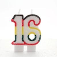 16 Double Age Multicolour Candle 6ct
