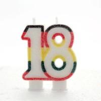 18 Double Age Multicolour Candle 6ct