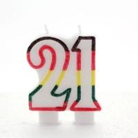 21 Double Age Multicolour Candle 6ct