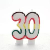 30 Double Age Multicolour Candle 6ct