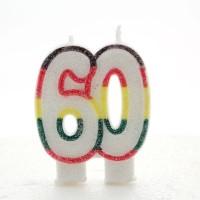 60 Double Age Multicolour Candle 6ct
