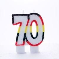 70 Double Age Multicolour Candle 6ct