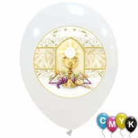 """Communion Full Colour 12"""" Latex Balloons 25Ct (Printed 1 Side)"""