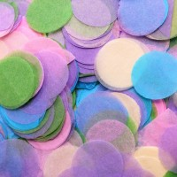 Assorted Colours Paper Dots Confetti (100g)