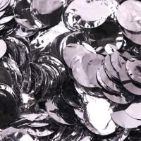 Metallic Silver Dots Foil Confetti (100g)