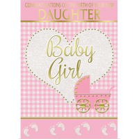 Baby Girl - The Birth Of Your New Daughter - Pack Of 12