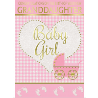 Baby Girl - Your Lovely New Granddaughter - Pack Of 12