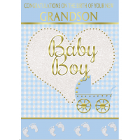 Baby Boy - Your Lovely New Grandson - Pack Of 12