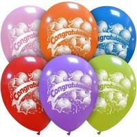 "Congratulations Party Superior 12"" Latex Balloon 25Ct"