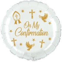 """Crozier Confirmation Gold 18"""" Foil Balloon UNPACKAGED"""