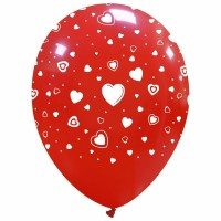 "Hearts 12"" Latex 25ct"