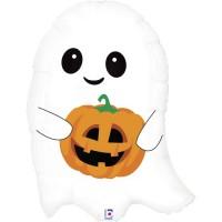 """Cute Lil Ghost 26"""" Foil Balloon"""