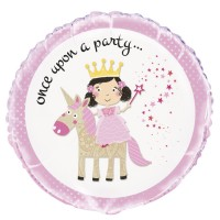 "Once Upon a Party - Princess Unicorn  - 18"" Foil Balloon"