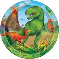 "Dinosaur 7"" plates 8ct"