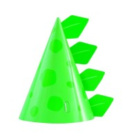 Dino Party Time Party Hats 8ct