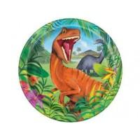 "Dinosaur 9"" plates 8ct"