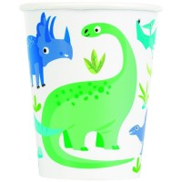 Dino Party Time 9oz Cups 8ct