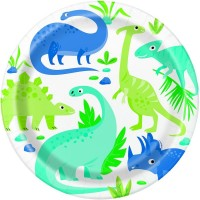 """Dino Party Time 9"""" Plates 8ct"""
