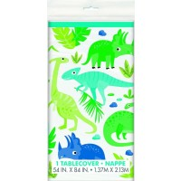 Dino Party Time Plastic Tablecover 1ct