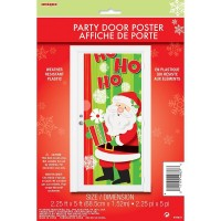 Happy Santa Door Poster 27x60in