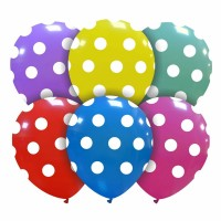 "Superior 5"" Assorted Colours Polka Dots  Latex 100ct"