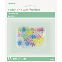 18 ct 12pk crystal pacifiers assprted colours