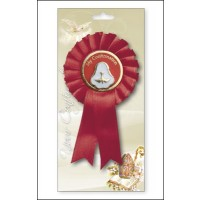 Confirmation - Red Rosette Pearl Medal Pack Of 6