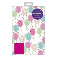Pink Balloons - Packed Wrap H:69 x W:49 cm