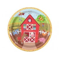 "Farm Party 9"" plates 8ct"