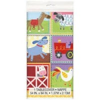 Farm Party Plastic Tablecover 1ct