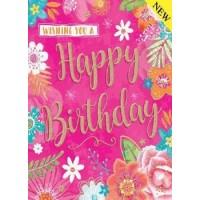 Happy Birthday - Open Girl - Pack Of 12