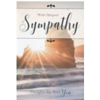 With Deepest Sympathy - Thoughts Are With you - Pack Of 12