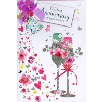 On Your Anniversary - Congratulations - Pack Of 12